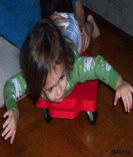 Developing sensory processing, upper body strength and coordination, motor planning, and hand development.
